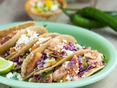 """A perfect fusion of flavors compliments our Wild Pink Salmon in this taco recipe by Lynn Leishman. WILD LUMMI ISLAND PINK SALMON WITH BLACK PEPPER Ingredients 1 (4oz) pkg Patagonia Provisions Wild Lummi Island Pink Salmon, Black Pepper, drained 6 6"""" corn tortillas warmed one at a time over medium-high heat in a frying pan. (Wrap in clean, dry dishtowel to keep them warm.) Cilantro Slaw 2 cups finely shredded fresh cabbage (green or a combination of green and red) ¼ cup chopped fresh cilantro…"""