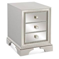 Check out the Bassett Mirror 2840-203EC Armando Chairside Chest in White