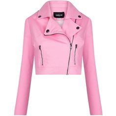 Collectif Mainline Outlaw Plain Biker Jacket ($7.27) ❤ liked on Polyvore featuring outerwear, jackets, collectif, pastel biker jacket, rider jacket, pastel pink jacket and biker jackets