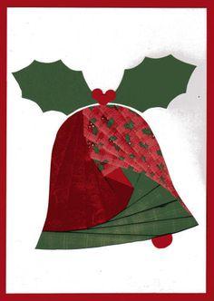 Christmas cards / scrap booking. Iris Folding Templates, Iris Paper Folding, Iris Folding Pattern, Quilted Christmas Ornaments, Christmas Bells, Christmas Patterns, Card Patterns, Quilt Patterns, Pliage D'iris