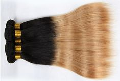 Brazilian Bundles Ombre Human Hair Weave Bundles Two Tone 1b 27 Hair Extensions Non Remy Hair