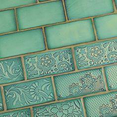 """Antigua 3"""" x 6"""" Ceramic Tile in Special Lava Verde"""