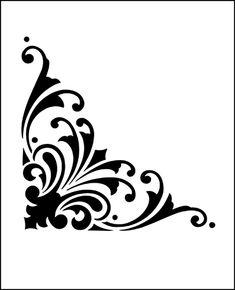 Florentine Corner stencil from The Stencil Library SPECIAL INTEREST range. Buy stencils online. Stencil code F24.