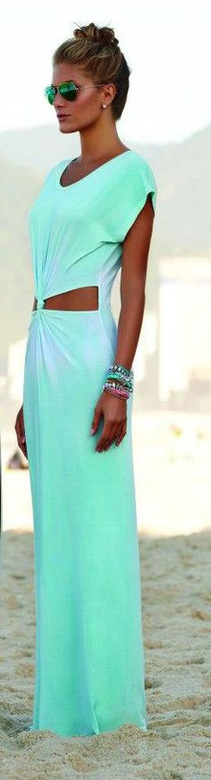 @roressclothes clothing ideas #women fashion mint maxi dress
