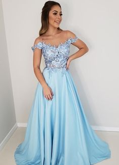 Sexy Off-shoulder A-line Satin Long Prom Dresses Evening Grad Dresses, Evening Dresses, Formal Dresses, Special Dresses, Wedding Dresses, Prom Long, Formal Prom, Slit Dress, Dress And Heels