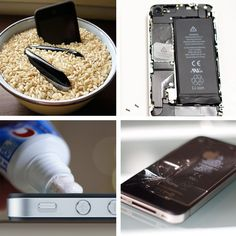 How To Bring Your iPhone Back to Life...the rice trick is amazing! I dropped my phone in snow and could no longer hear anything except on speakerphone, overnight  in a bowl of rice and voila! good as new :-)