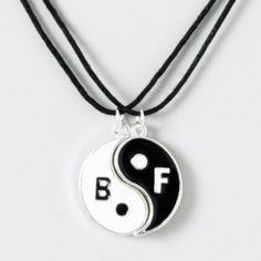 Yin Yang Magnetic BFF Necklace Set