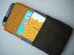 felt phone and card wallet by jonesyinc on Etsy, £7.00