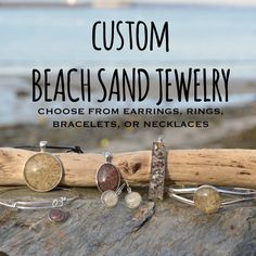 Beach Sand Jewelry makes great gifts by Boheme Chic and they are customizable! #etsy #jewelry