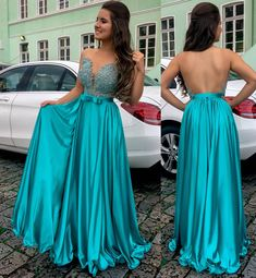 Sparkly Prom Dress, Charming A Line Elastic Satin Backless Sweetheart Jade Bowknot Beaded Prom Dress, These 2020 prom dresses include everything from sophisticated long prom gowns to short party dresses for prom. Long Prom Gowns, A Line Prom Dresses, Mermaid Prom Dresses, Event Dresses, Strapless Dress Formal, Bridesmaid Dresses, Girls Dresses, Formal Dresses, Dress Long