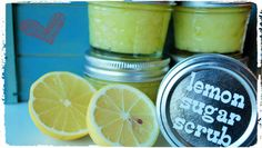 DIY Lemon Sugar Scrub - http://www.howtomakebathsalts.com/diy-lemon-sugar-scrub/