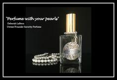 """Perfume with your pearls"" Deborah LaBron Owner/Founder Sorority Perfume www.sororityperfume.com #SororityPerfume.com"