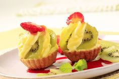 Tartaletas de kiwi y fresas
