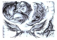 Demon tattoo designs
