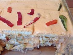 Como Hacer Pastel De Pollo / Sandwichon De Pollo - YouTube
