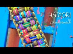 """This is a hooked design. No loom needed. *Zuzu* HATAORI and barbecue sticks"""" bracelet tutorial Rainbow Loom Bracelets Easy, Loom Band Bracelets, Rainbow Loom Tutorials, Rainbow Loom Patterns, Rainbow Loom Creations, Bracelet Crafts, Beaded Bracelets, Loom Bands Designs, Loom Band Patterns"""