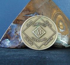 Narcotics Anonymous Vintage Bronze NA Medallion 6 Year Chip Coin 1991 WSO Set | eBay