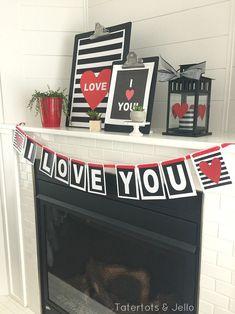 free printable valentines day banner printable