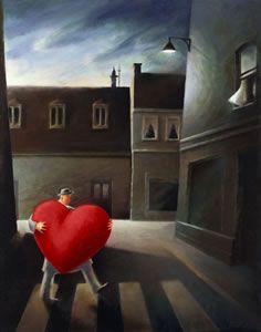 A Big Heart a limited edition print by Berit Kruger Johnsen