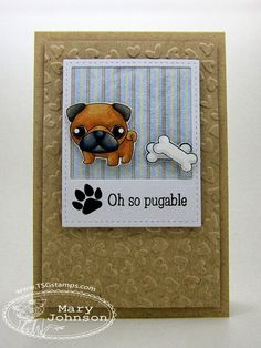 handmade card from Where's my creativity?: There She Goes Pugalicious ...