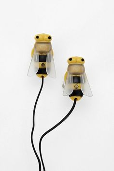 Bee Earbuds - Urban Outfitters-- Aren't these cute!