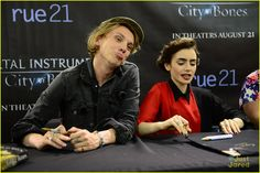 Jamie Campbell Bower: Funny Faces in Philly! | jamie campbell bower lily collins philly tmi 03 - Photo Gallery | Just Jared Jr.