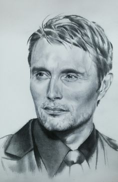 Love this painting.. i used special technique -> aquarelle on canvas. This picture will be better, i will continue. #inlovewithmads  #aquarelleoncanvas #madsmikkelsen