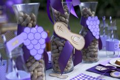 Peanut Butter and Jelly Play Date Party - centerpieces