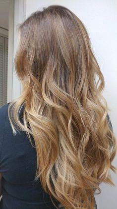 Trendsetting balayage hair up styles pics. Brown Hair Balayage, Hair Color Balayage, Hair Highlights, Ombre Hair, Blonde Balayage, Hair Colour, Honey Blonde Hair, Blonde Hair Looks, Brunette Hair