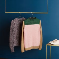 The perfect pink winter knits from Maison Scotch.   Products shown:  Maison Scotch Women's Colour Blocked High Neck Jumper  Maison Scotch Women's Crew Neck Multi Yarn Knitted Jumper  For more fashion inspiration head over to The Hut.