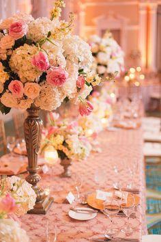 Glamorous Ballroom Wedding from K  K Photography. To see more: http://www.modwedding.com/2014/04/28/glamorous-ballroom-wedding/ #wedding #weddings #reception #bouquet #centerpiece #ceremony