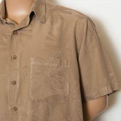 XL CARIBBEAN SILK JACQUARD BAHAMA CRAB BOIL CAMP ALOHA HAWAIIAN TOMMY SHIRT MENS #SomeLikeItUsed