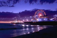 Spend the day on the beach and the night at Santa Monica Pier!
