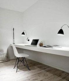 huara muebles: Escritorio, mesa de trabajo flotante