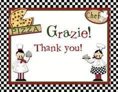 like the italian word for thank you. for the thank you's