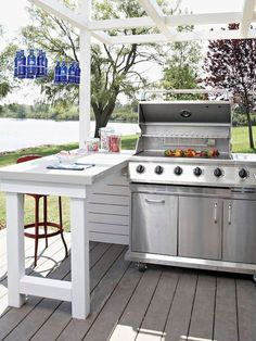 Outdoor Grill Area, Outdoor Grill Station, Patio Grill, Pergola Patio, Pergola Kits, Pergola Ideas, Bbq Area, Diy Grill, Outdoor Bars