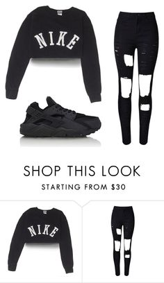 """"" by hollywoodniya on Polyvore featuring beauty, NIKE and WithChic"