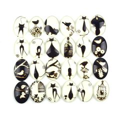 Find More Jewelry Findings & Components Information about Oval Glass Cabochons Dome Flatback Embellishment Imitation Cat Pattern Jewelry Findings DIY Photo Frame Mixed  20pcs/lot,High Quality lots of funny pictures,China lot boy Suppliers, Cheap frame bag from Shangcheng Jewelry Co.,Ltd on Aliexpress.com