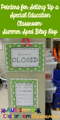 Special Education Classroom Setup Pointers: Summer Sped Blog Hop