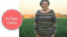 Crochet garnny stitch sweater sleeves border by Oana