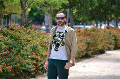 Camiseta tigre   verde militar