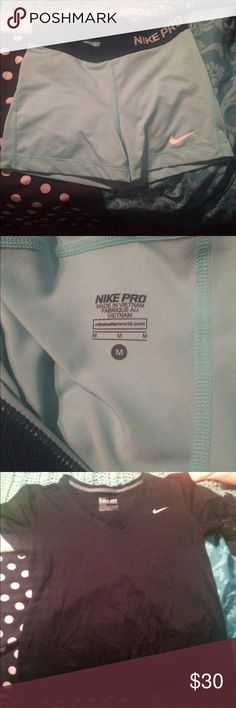Nike Pro shorts Super nice and really soft, shorts worn one time. They are super comfortably and really cute! size medium!! Nike Other