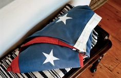A folded flag in Robert Kennedy Jr.'s home in Hyannis Port, Massachusetts. Robert Kennedy Jr, Folded Flag, Kennedy Compound, Hyannis Port, John Junior, John Fitzgerald, American Presidents, Perfect Couple, Old Glory