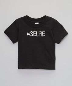 Look at this #zulilyfind! Black '#Selfie' Tee - Infant, Toddler & Boys by Itzy Bitzy #zulilyfinds