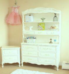 Vintage furniture gets a makeover for a nursery