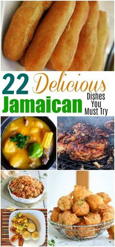 22 Delicious Jamaican Dishes You Must Try Authentic Delicious Jamaican Recipes Jamaican Desserts, Jamaican Cuisine, Jamaican Dishes, Jamaican Food Recipes, Jamaican Appetizers, Carribean Food, Caribbean Recipes, Carribean Desserts, Jamican Recipes
