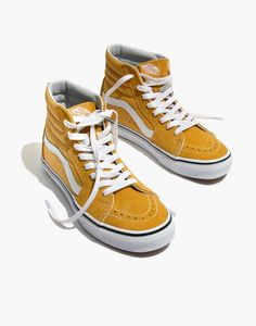 68721b513abbbb Madewell Vans Unisex SK8-Hi High-Top Sneakers in Ochre Suede