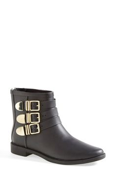 Loeffler Randall 'Fenton' Rain Boot (Women) available at Best Rain Boots, Best Ankle Boots, Crazy Shoes, Me Too Shoes, Bootie Boots, Shoe Boots, All Weather Boots, Fall Shoes, Moto Boots