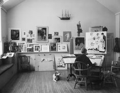 Norman Rockwell studio