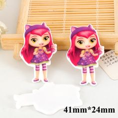 50pcs New Cartoon Little Charmers Hazel Resin Flatback Kawaii Planar Resin Craft DIY Christmas Home Decoration Accessories